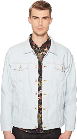 Power-Stretch Oversized Denim Jacket