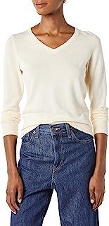 Amazon Essentials Women's Classic Fit Lightweight Long-Sleeve V-Neck Sweater