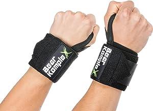 """Bear KompleX Professional Grade 18 """"Pols Support Band Wraps(1 paar) voor gewichtheffen, Cross Training, Workout, Powerlift..."""