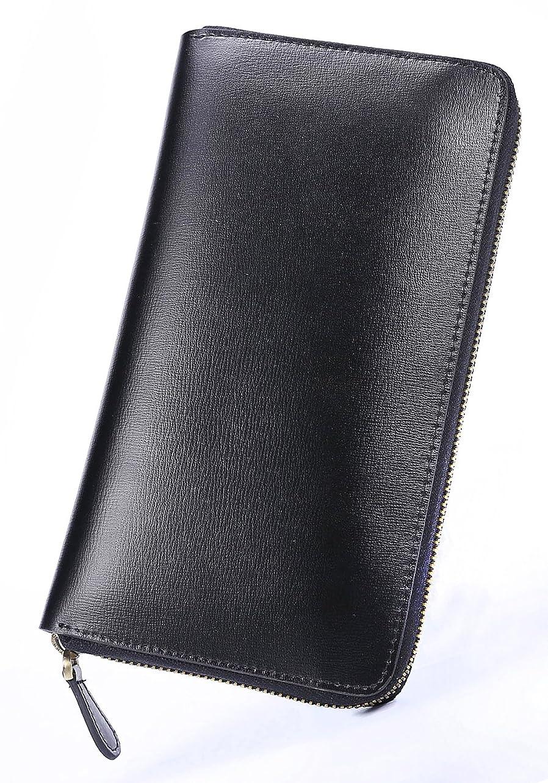 争うカード承認する[High-end] スペイン産サフィアーノレザー 本革 長財布 ラウンドファスナー 多機能 ME0100_b