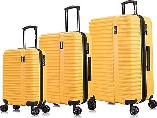 InUSA Luggage Set 3 Piece Mustard/Yellow - 20