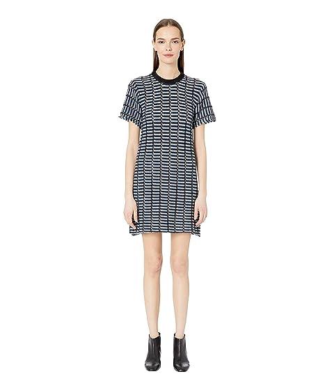 Sonia Rykiel Open Work Reverse Stripes Dress