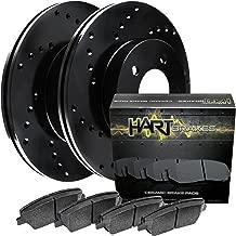 Fits 2014 Jeep Cherokee Rear Black Drilled Brake Rotors+Ceramic Brake Pads