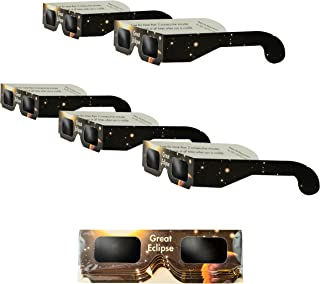 na SEG-013 Solar Eclipse Glasses | ISO & CE Certified Safe Solar Eclipse Shades | Viewer and Filters | Protection for All Ages (5 Pack)