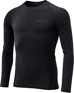 Tesla Boy's Compression Top and Pants Baselayer Cool Dry Long Sleeve T-Shirt KUD11 / Sports Tights Leggings KUP19