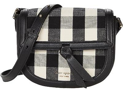 Kate Spade New York Knott Gingham Medium Saddle Bag