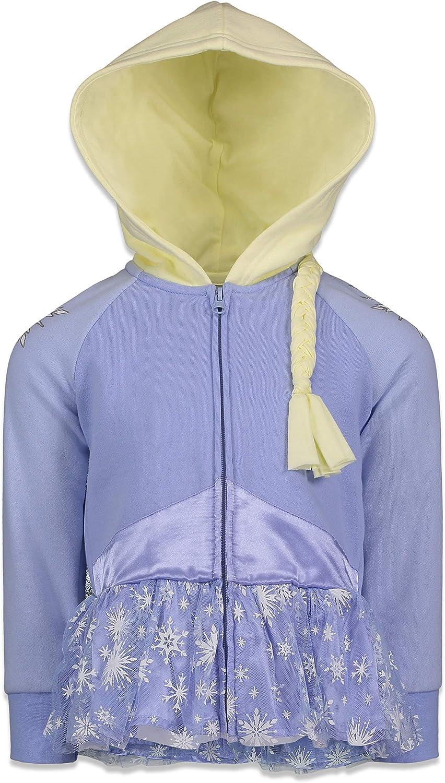 Zipped Fleece Sweatshirt Disney Frozen Official Licensed Girls Hoodie Anna /& Elsa Characters 3-8 Years