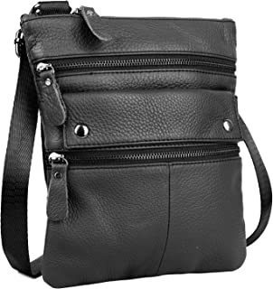 YALUXE Super Lightweight Portable Leather Small Shoulder Bag fit 7.9