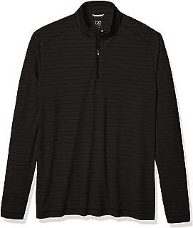 Men's Moisture Wicking Drytec UPF Holman Stripe Half Zip Pullover