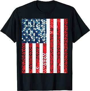 vertical american flag shirt usa top murica tshirt merica