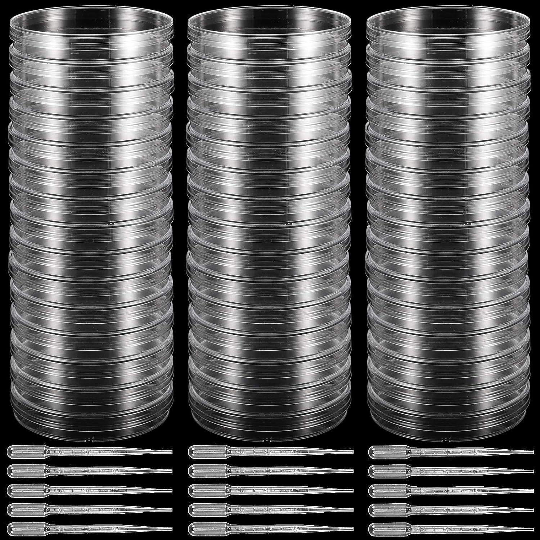 ZEONHAK 50 Max 44% OFF PCS Plastic Petri Dish 90 15 x Deep C Diameter mm OFFicial store