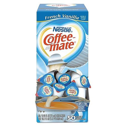 Coffee-mate 35170BX French Vanilla Creamer, 0.375oz (Box of 50)