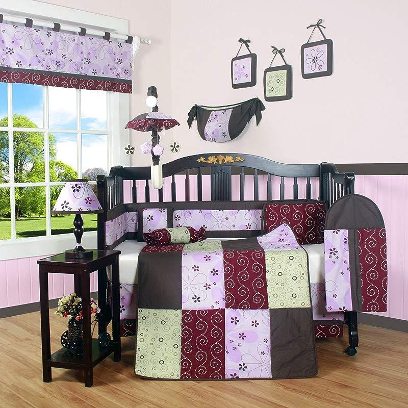 GEENNY Boutique Crib Bedding Set Love Circle 13 Piece