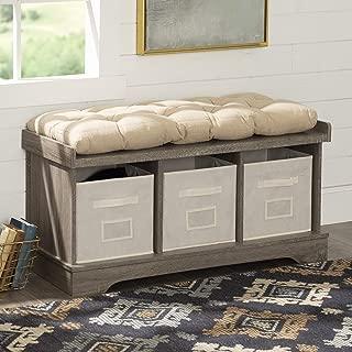 WE Furniture storage bench, Driftwood