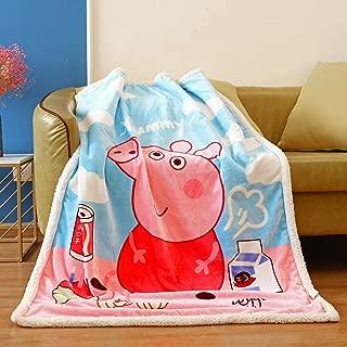 FairyShe Kids Throw Blanket Cartoon Fleece Blanket,Soft Warm Plush Sherpa Blanket for Baby,Coral Velvet Fuzzy Blanket for Bed Couch Chair Baby Crib Living Room