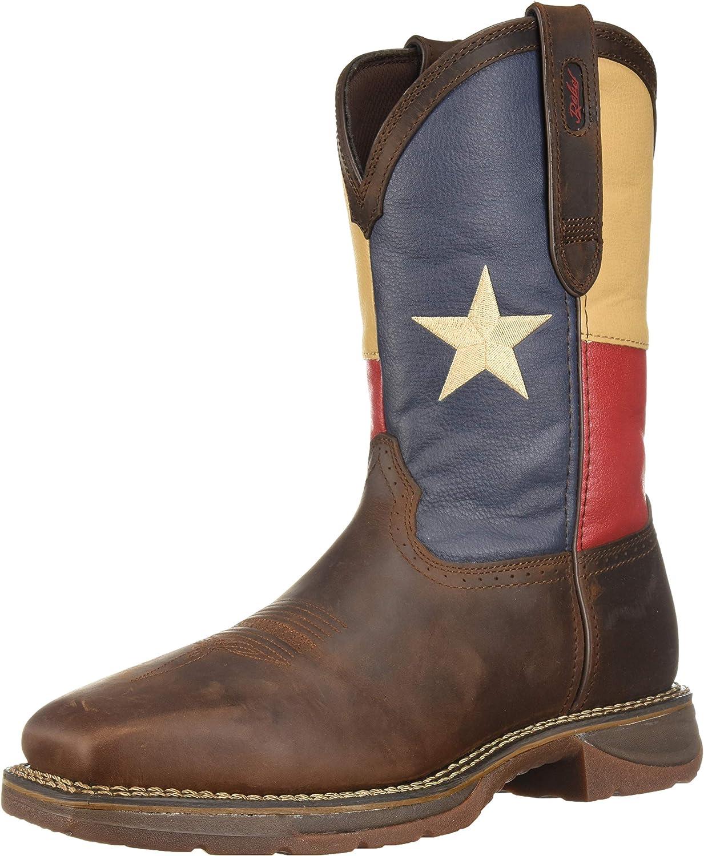 Durango Men's DB021 Western Boot, Dark Brown Texas Flag, 10 M US