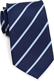 navy striped tie
