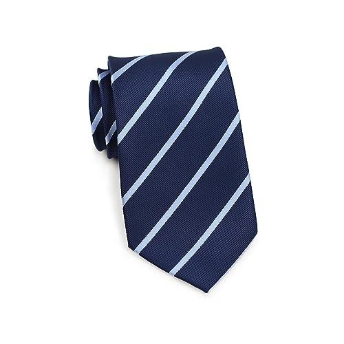 73d5af3a5957 Bows-N-Ties Men's Necktie Classic Repp Stripe Microfiber Matte Tie 3.25  Inches
