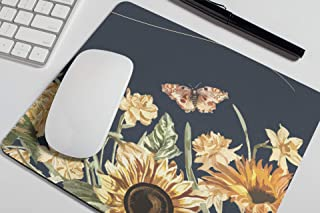 Sunflowers Cute Mouse Pad Yellow Floral Mousepad Womens Desk Accessories Office Supplies Pastel Boho Gift for Coworker Boss A379