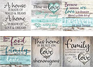 XPCARE 6 Pack 5d Diamond Painting Kits Round Full Drill Acrylic Embroidery Cross Stitch for Home Wall Decor Family Love(Ca...