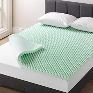 Best Price Mattress 2 Inch Egg Crate Memory Foam Mattress Topper with Calming Aloe Infusion, CertiPUR-US Certified, Short ...