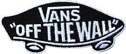 Vans Off The Wall Skateboard Noir et blanc brodé badge Patch à ...