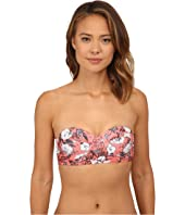 Vix - Sofia by Vix Jardin Pink Demi Cropped Top