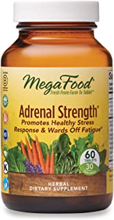 MegaFood, Adrenal Strength, Supports a Healthy Stress Response, Herbal Supplement Vegetarian, 60 Tablets (30 Servings)