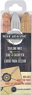 MANUSCRIPT Seal Wax 3 Pack Gold/Silver/Bronze Wax, (67633GSB)