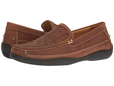Johnston & Murphy Fowler Casual Woven Venetian Slip-On (Light Tan Oiled Full Grain) Men