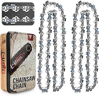 Ventvinal 2 piezas de cadenas de sierra 3/8 pulgadas 56 eslabones de accionamiento Sable de 40cm compatible con Echo Craft...