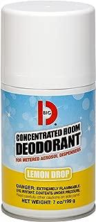 Big D 451 Concentrated Room Deodorant for Metered Aerosol Dispensers, Lemon Drop Fragrance, 7 oz. (Pack of 12) - Air freshener ideal for restrooms, offices, schools, restaurants, hotels, stores