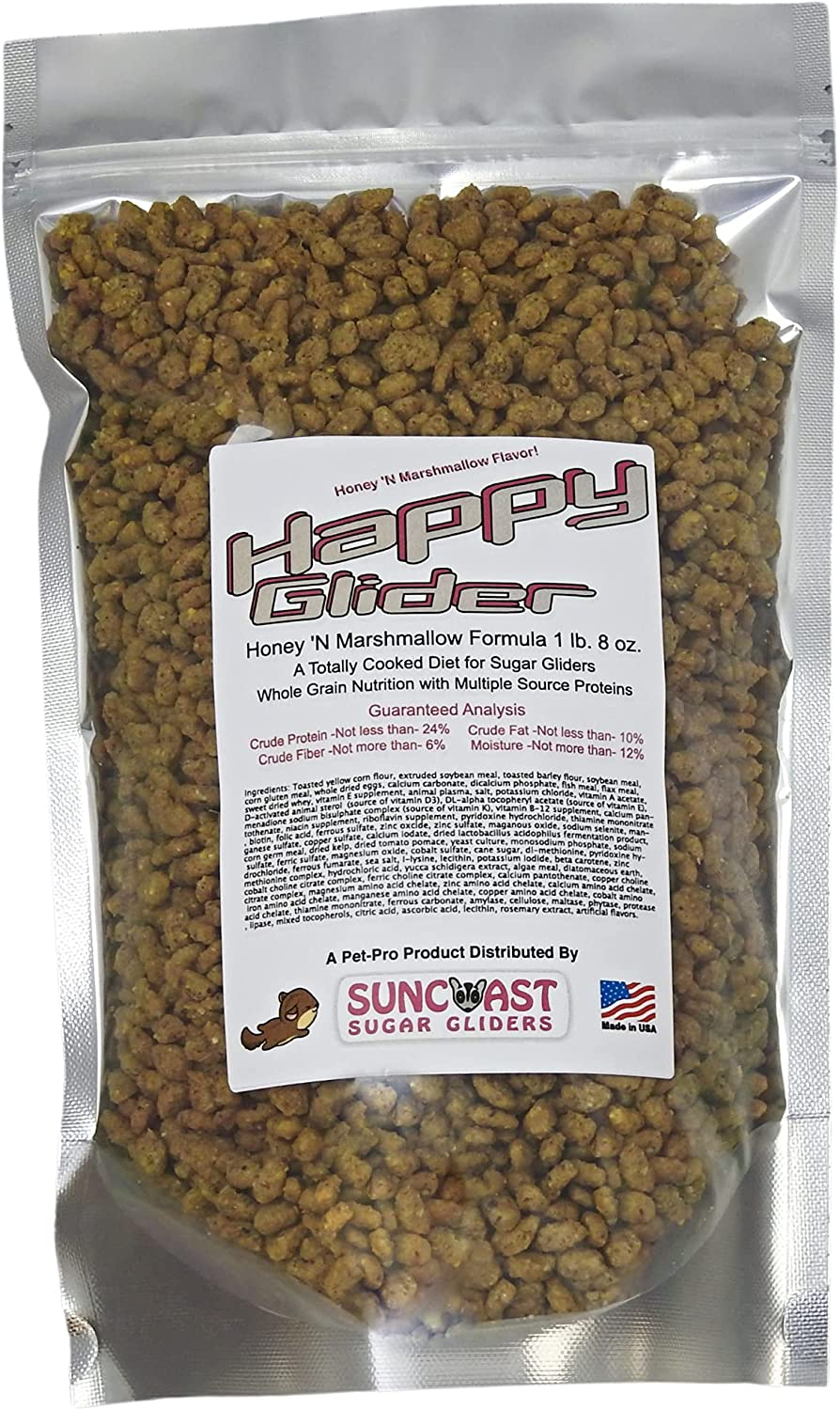 $2 Off Intro Offer! Happy Glider 1 lb 8 oz Bag of Nutrient Dense Premium Sugar Glider Food. New Flavors, Just Released 2021! (Honey 'N Marshmallow)