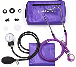 "Aneroid Sphygmomanometer and Stethoscope Kit, LotFancy Manual Blood Pressure Cuff with Adult Size Cuff (10-16"") and Carrying case, BP Kit for Home Use"
