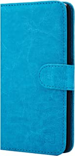 32nd Book Style Faux Leather Wallet Case Cover for LG Stylo 2 (2016), LG Stylo 2 V, LG Stylo 2 Plus - Light Blue