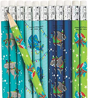 Christmas Shark Pencils - 24 pc