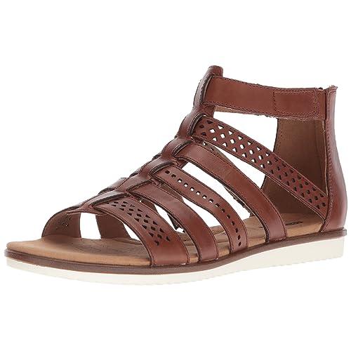 fbc5372216fe CLARKS Women s Kele Lotus Gladiator Sandal