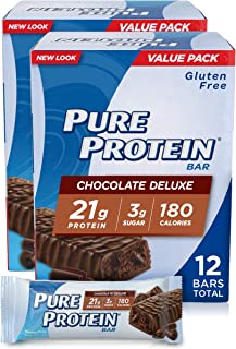 Bars, High Protein, Nutritious Snacks to Support Energy, Low Sugar, Gluten Free, Chocolate Deluxe, 1.76oz, 6 Pack, 2 Pack