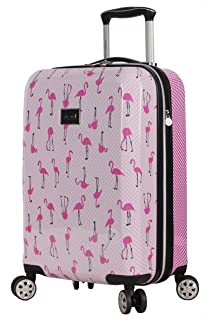 Betsey Johnson Designer 20 Inch Carry On - Expandable (ABS + PC) Hardside Luggage - Lightweight Durable Suitcase With 8-Ro...
