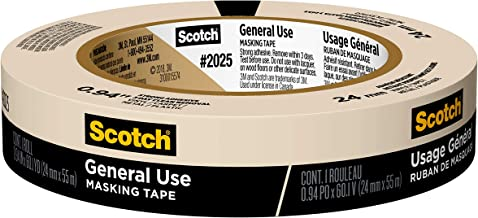 Scotch Greener Masking Tape for Basic Painting, 0.94 in x 60 yard, 2025, 1 roll