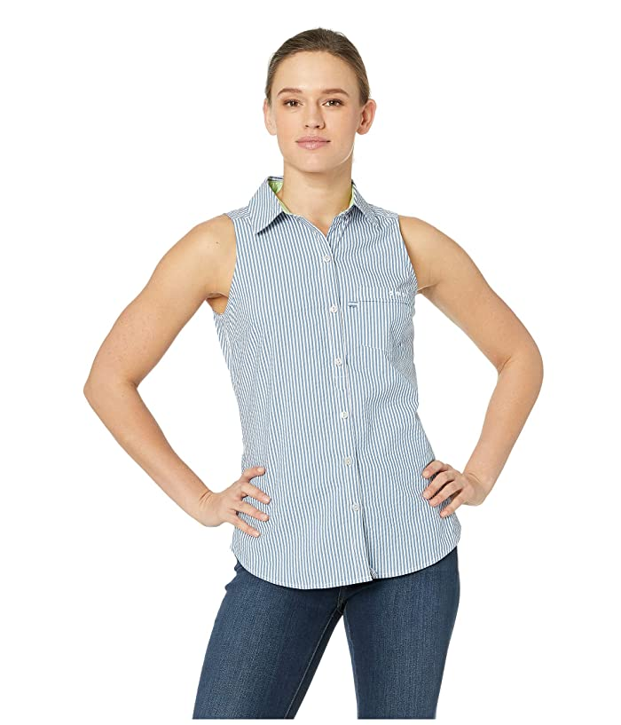 Columbia Super Harborside Woven Sleeveless Shirt (Impulse Blue Seersucker) Women