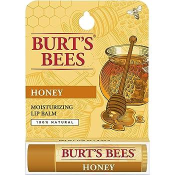 Burt's Bees 100% Natural Moisturizing Lip Balm, Honey with Beeswax - 1 Tube
