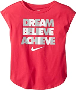 Dream Believe Achieve Short Sleeve Tee (Little Kids)