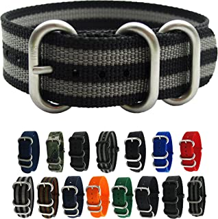 HNS Watch Bands - Choice of Color & Width (20mm, 22mm,24mm) - Ballistic RAF Nylon ZULO Straps