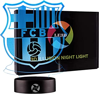 3D Optical Illusion Night Light - 7 LED Color Changing Lamp - Cool Soft Light Safe For Kids - Solution For Nightmares - So...