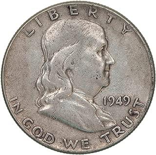 1949 Franklin Half Dollar 90% Silver Very Fine