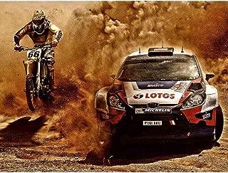 Wee Blue Coo Photograph Sport Motocross Bike Rally Car Dirt Race Unframed Wall Art Print Poster Home Decor Premium