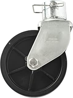 Jeremywell 6 Inch Trailer Swirl Jack Caster Wheel 1200lbs Capacity with Pin Boat Hitch Replacement Removable
