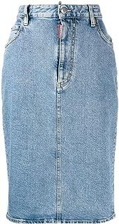 DSQUARED2 Luxury Fashion Womens S75MA0652S30667470 Light Blue Skirt | Fall Winter 19
