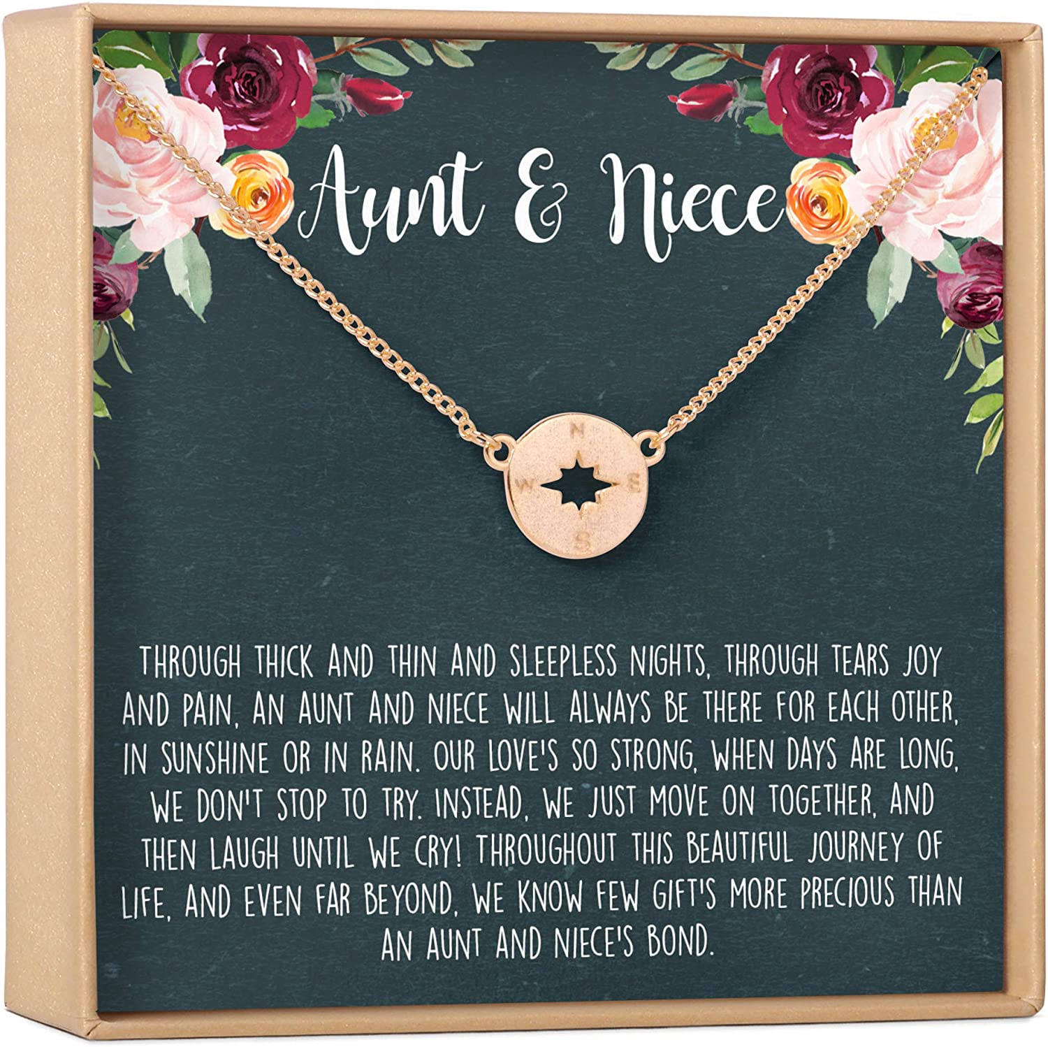 Aunt-Niece Necklace - All items free shipping Indianapolis Mall Gift Jewelry Ideas Heartfelt Card